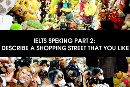 IELTS SPEAKING PART 2 : DESCRIBE A SHOPPING STREET THAT YOU LIKE