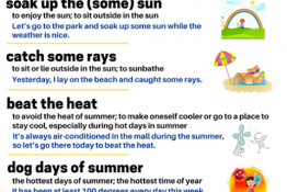 SWIMMING TOPIC + SUMMER IDIOMS