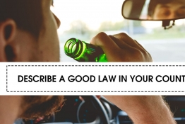IELTS SPEAKING PART 2: DESCRIBE A GOOD LAW IN YOUR COUNTRY (p1)